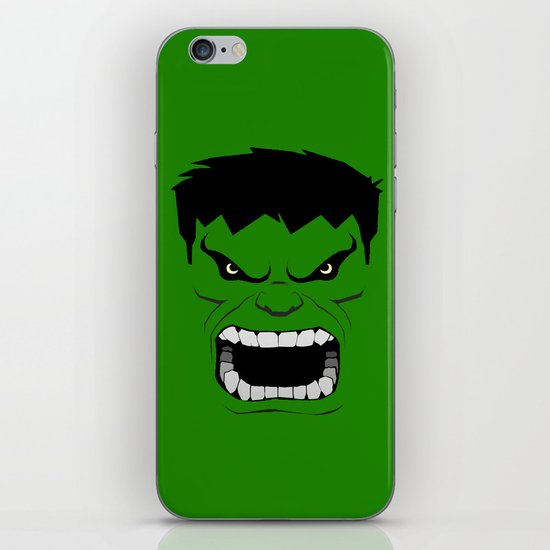 Minimalist Hulk iPhone & iPod Skin