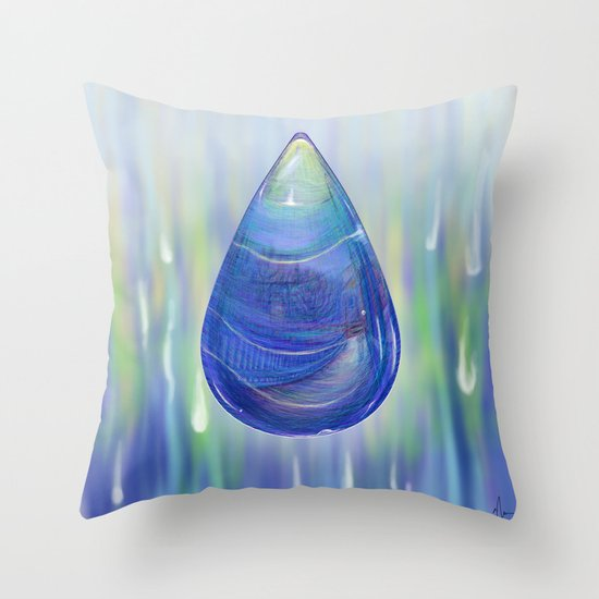 Drip Drop - Painting Throw Pillow