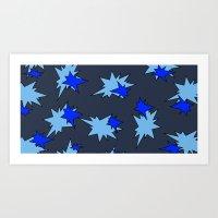 Stars (Navy & Sky On Blu… Art Print