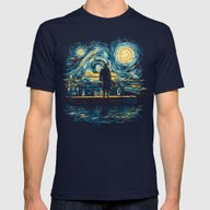 Starry Fall (Sherlock) Mens Fitted Tee Navy SMALL