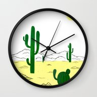 Man & Nature - The Deser… Wall Clock