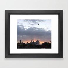 Flying over Rome Framed Art Print