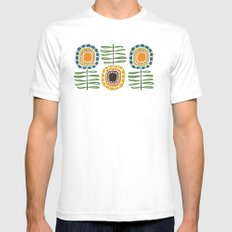 MCM Sunflowers SMALL Mens Fitted Tee White