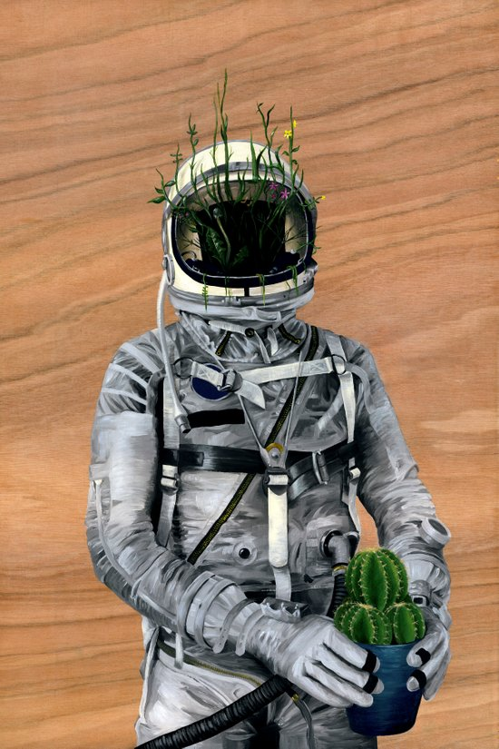 Cacti | Spaceman No:1 Canvas Print