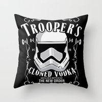 Trooper's Cloned Vodka Throw Pillow