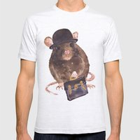 Rat, Journalist, Office … Mens Fitted Tee Ash Grey SMALL