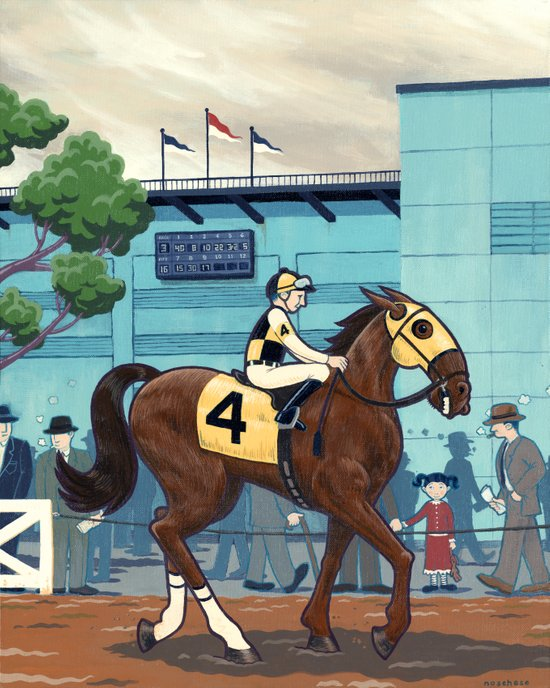 Day at the Races Art Print