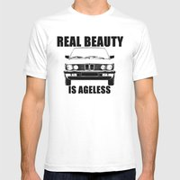 Real Beauty Is Ageless Mens Fitted Tee White SMALL