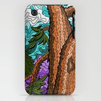 iPhone Cases featuring Crazy Tree Impression  by David Michael Schmidt