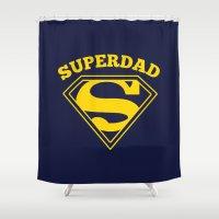 Superdad | Superhero Dad… Shower Curtain