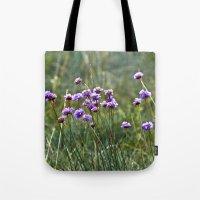 Purple Summer Meadow Tote Bag
