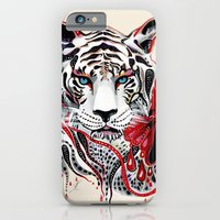 iPhone & iPod Case featuring White Tiger by Felicia Atanasiu