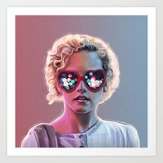 Electrick Girl Art Print