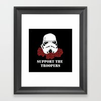 Support The Troopers Framed Art Print