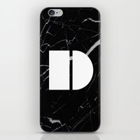 Black Marble - Alphabet D iPhone & iPod Skin