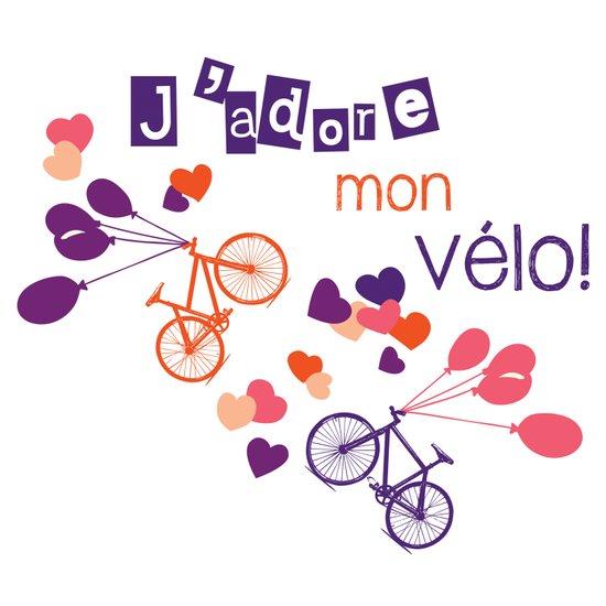 J'adore mon vélo! Art Print