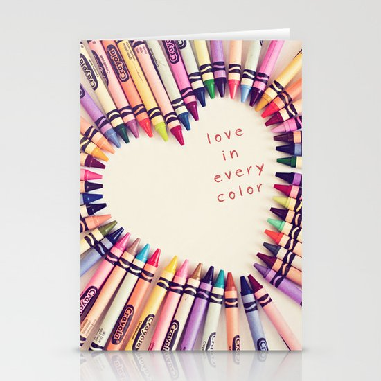 love in every color Stationery Card