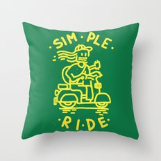 Simple Ride Throw Pillow