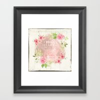 Typography A Mothers Heart Framed Art Print