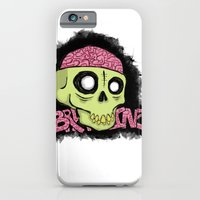 iPhone & iPod Case featuring BRAAAINZ by Hurtin Albertan