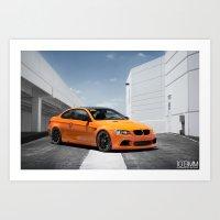 Orange BMW M3 Art Print