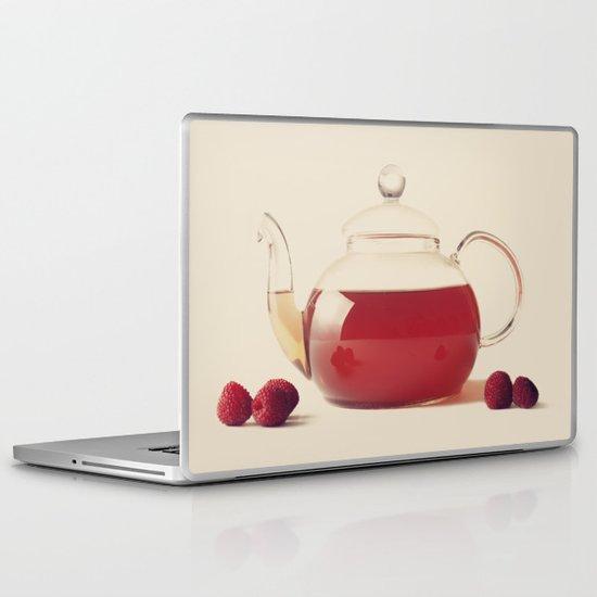 Raspberry Tea (Retro and Vintage Still Life Photography) Laptop & iPad Skin