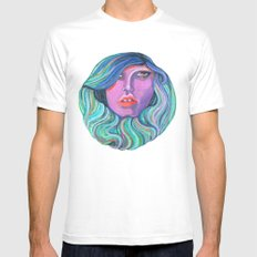 Pretty Oceanic Ombre Face Mens Fitted Tee White SMALL
