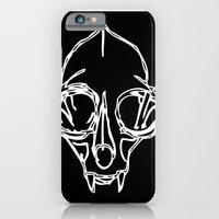 iPhone & iPod Case featuring Madam Salami Cat Skull by MadamSalami