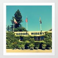Korbel Winery Art Print