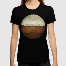 Home is Wherever I'm With You Womens Fitted Tee Black SMALL