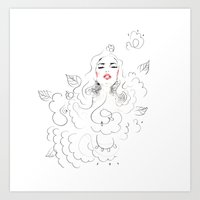 Flowerbath Art Print