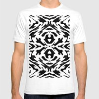 Arrow Tribe Black & White Mens Fitted Tee White SMALL