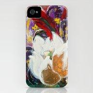 Purple Peonies In Gold W… iPhone (4, 4s) Slim Case