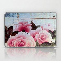 pink rose on old tile Laptop & iPad Skin
