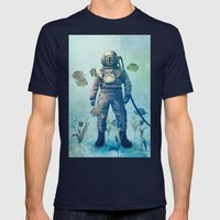 Deep Sea Garden  Mens Fitted Tee Navy SMALL
