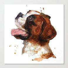 BOXER Dog painting, boxer dog print, dog breeds , cute puppy art Canvas Print