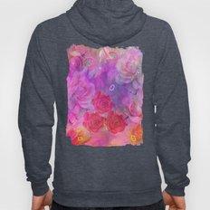 Dream Roses in soft pink, purple and orange Hoody
