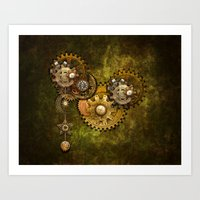 Clock Wall 2 Art Print