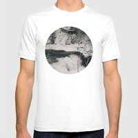 Winter Falls Circular Mens Fitted Tee White SMALL