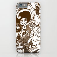 American Traditional Tattoo Collage (Brown) iPhone 6 Slim Case