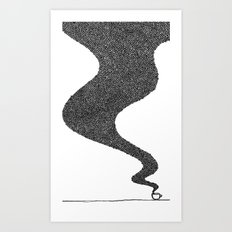 i drink good coffee. Art Print