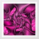 Twisted Pink Art Print