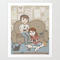 A Couple Who Game Togeth… Art Print