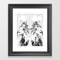 White Wolves [Digital Figure Drawing] Framed Art Print