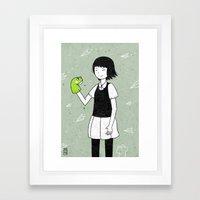 She and frog Framed Art Print
