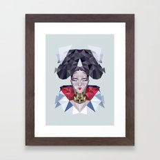 Freezing Sugarcube Framed Art Print