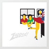 Zapped Art Print