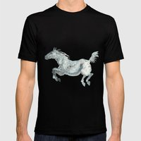 Blue Horse Mens Fitted Tee Black SMALL