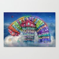 The Rainbowhouse ! Canvas Print