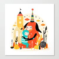 Woombi & Loondy Canvas Print